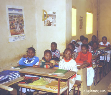 classroom with girls, Niger