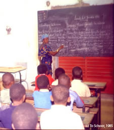 classroom, view from the back, Niger